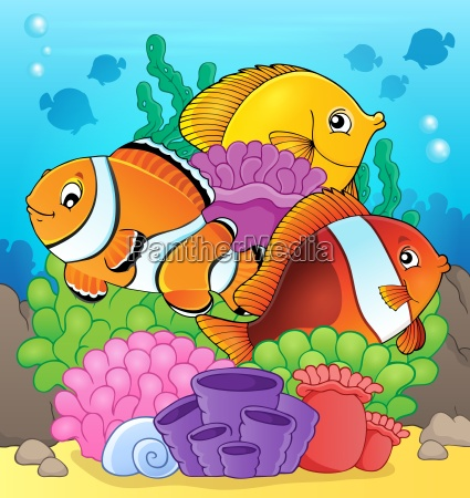 coral reef fish theme image 7