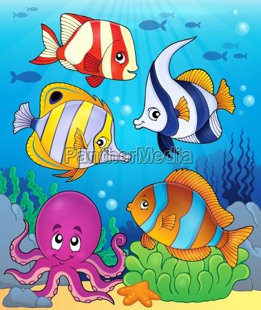 coral fauna theme image 5