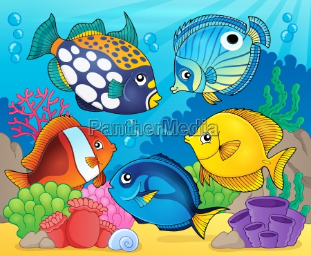coral reef fish theme image 8