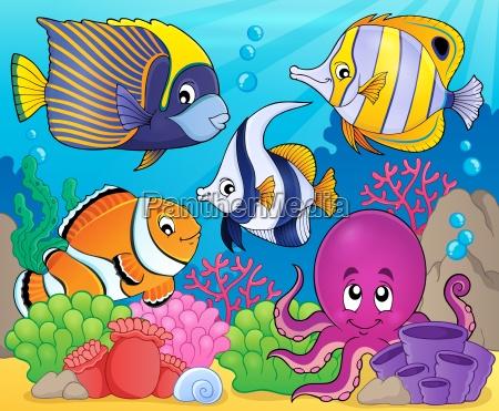 coral fauna theme image 7