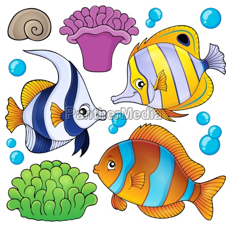 coral reef fish theme collection 3