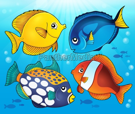 coral reef fish theme image 5