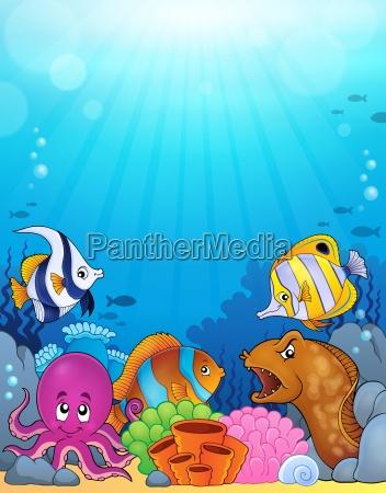 ocean underwater theme background 5
