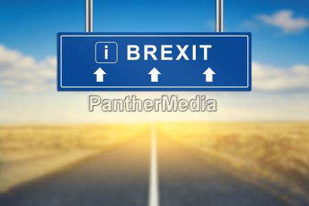 brexit oder britische ausfahrt worte auf