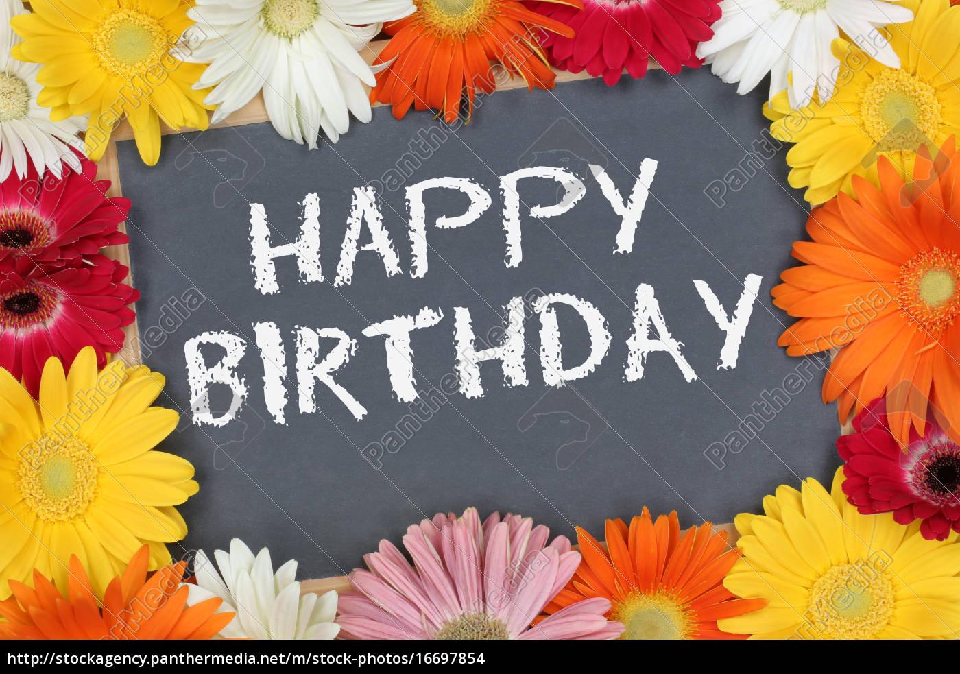 Geburtstagswünsche Karte Geburtstag.Stock Bild 16697854 Happy Birthday Geburtstag Karte Geburtstagskarte Mit Bunten