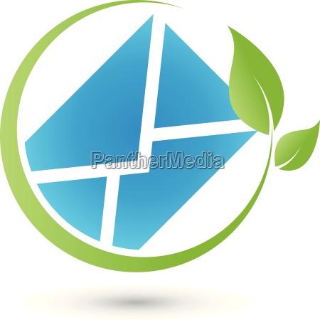 brief logo post e mail green