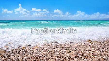 beautiful beach panoramic landscape