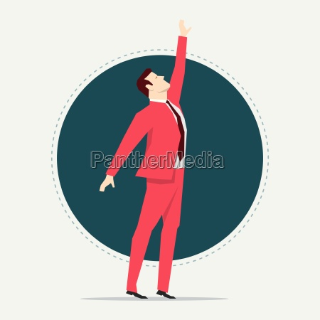 businessman in red suit flat style