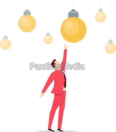 red suit businessman ideas vector concept
