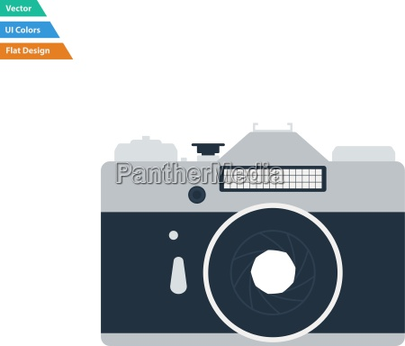 flat design icon of retro photo