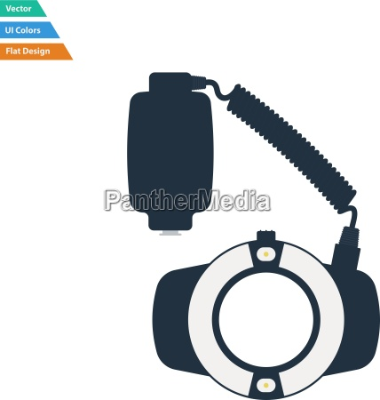 flat design icon of portable circle