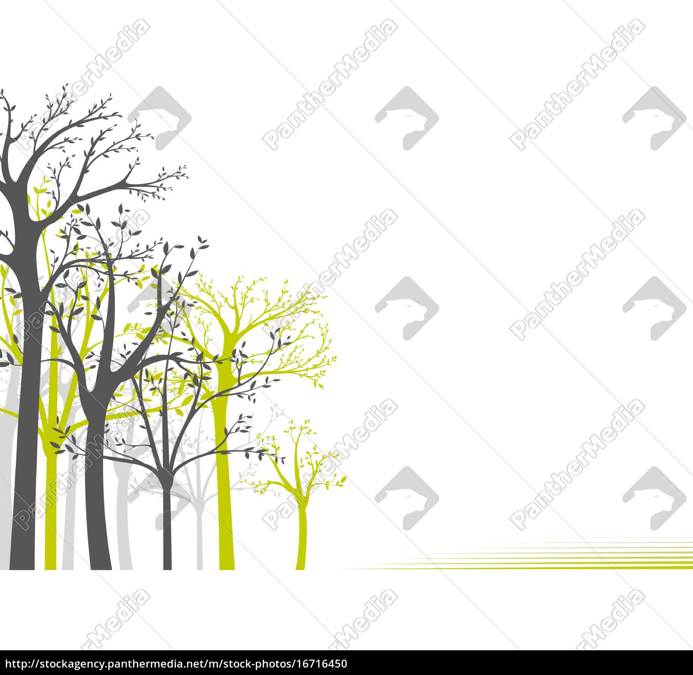 abstrakte, bäume, hintergrund - 16716450