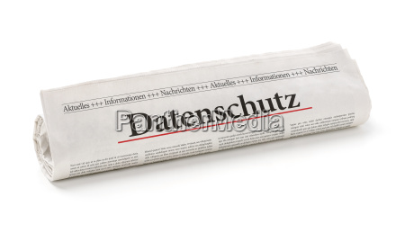newspaper roll with the heading privacy