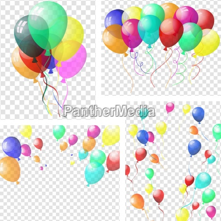 transparent colorful balloons