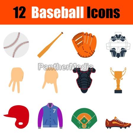 baseball symbol set