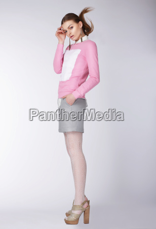 woman wearing casual clothes posing at