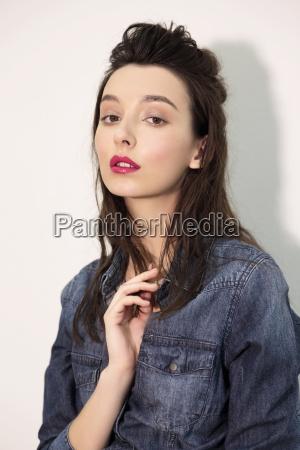 fashion model test shoot
