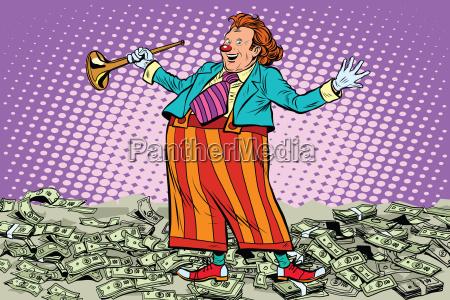 business concept money clown joke