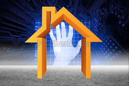 hand identification scanner graphic