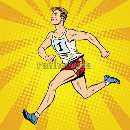 runner male runner summer games athletics