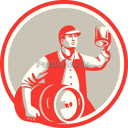 american worker keg toast beer mug