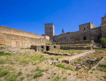 italy sicily enna fortress castello di