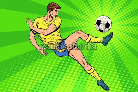 football has a soccer ball summer