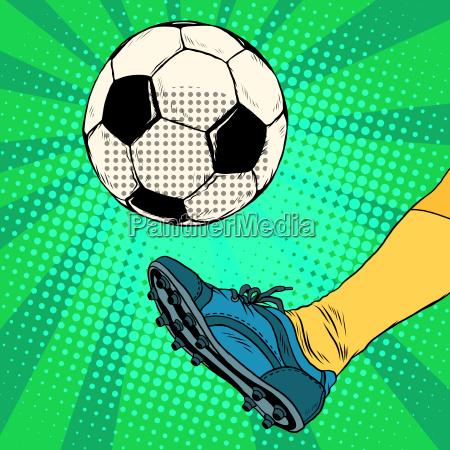 kick ein fussball