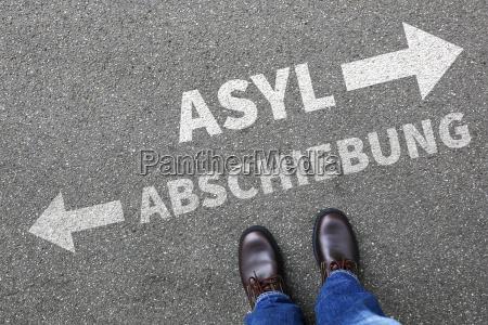 asyl beantragen abschieben abschiebung fluechtlinge fluechtling