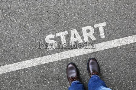 start starten lauf rennen anfang anfangen