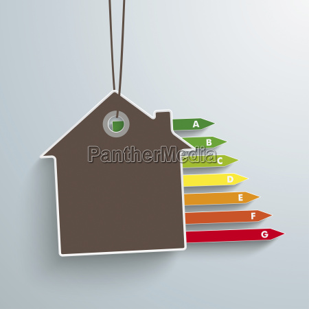 vector illustration house and energy pass