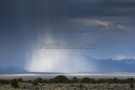 usa nevada landscape with thunderclouds