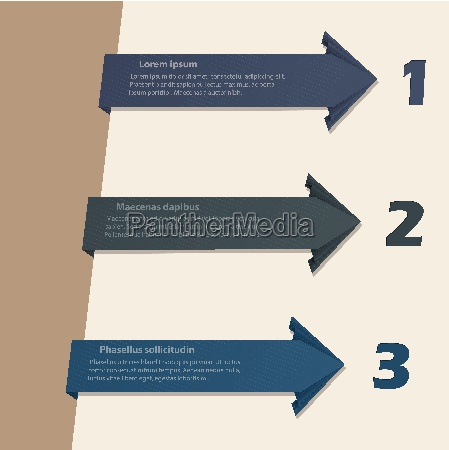 arrow origami infographic