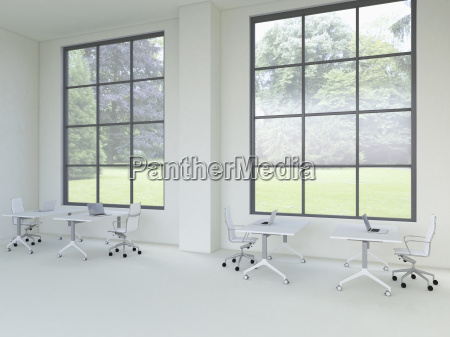 3d rendering of modern office with