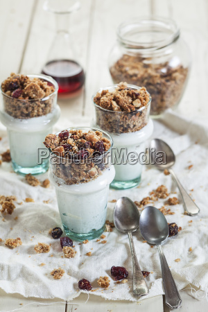 homemade glutenfree nut granola greek yogurt