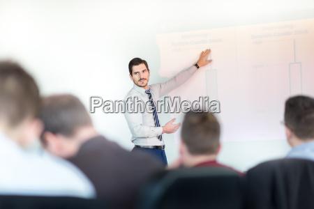 business praesentation auf corporate meeting