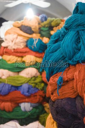 iran shiraz stack of carpet wool