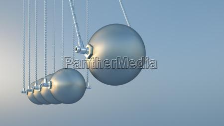newtons cradle 3d rendering