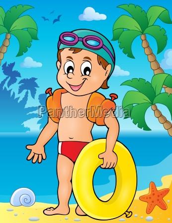 kleines schwimmer thema bild 2