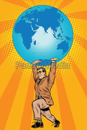 das internationale business chef haelt planeten