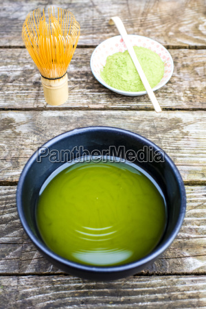 bowl of matcha tea matcha powder