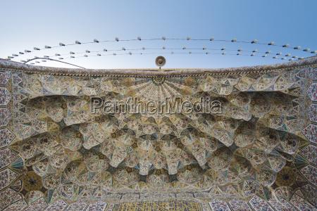 iran shiraz vakil mosque tile decorations
