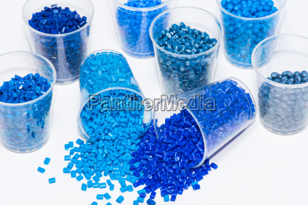 variation of different blue thermoplastic resins