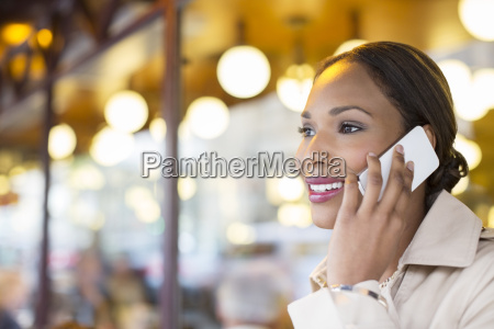 businesswoman talking on cell phone at