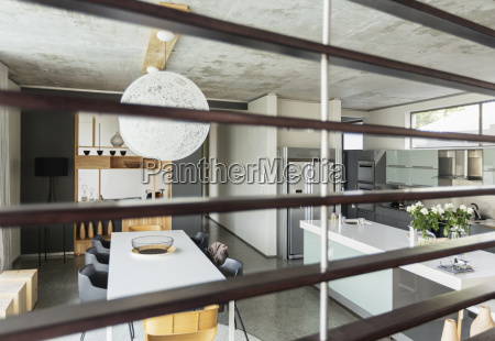 view of modern dining room and