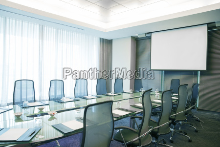 empty conference room with modern glass