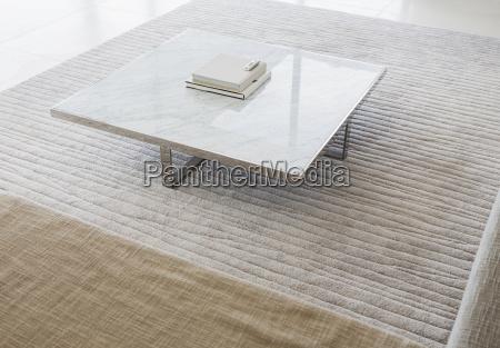 coffee table in modern living room