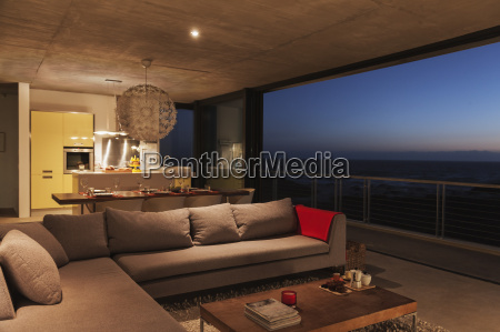 sofa and dining table in modern