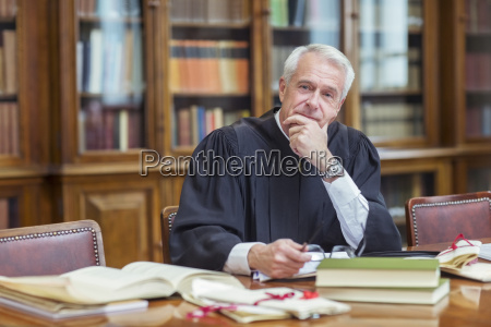 judge doing research in chambers