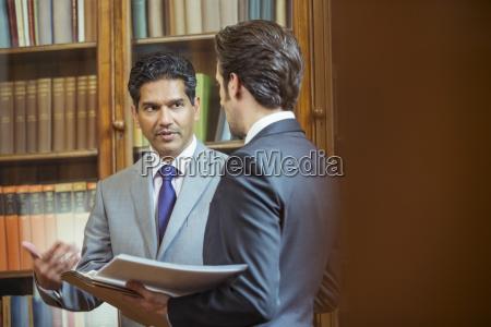 lawyers talking in chambers